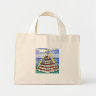 Laura's Lighthouse. Mini Tote Bag