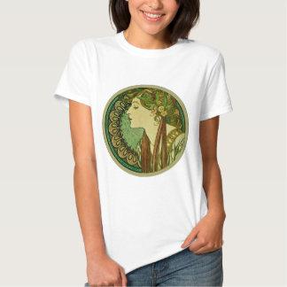 Laurel, Alphonse Mucha Vintage Art Nouveau Tee Shirts