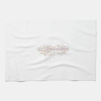 Laurel and Hardy Themed Item Tea Towel