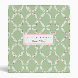 Laurel Branch and Berries Holiday Recipe Binder