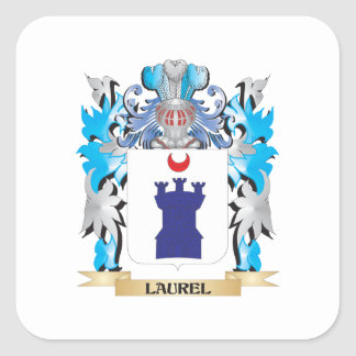 Laurel Coat of Arms - Family Crest Square Stickers