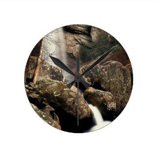 Laurel Falls Round Wall Clocks