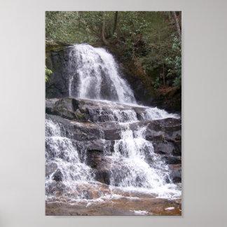 Laurel Falls, Smokey Mountains Poster