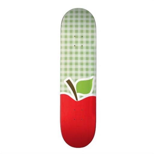 Laurel Green Gingham; Apple Skateboard Deck