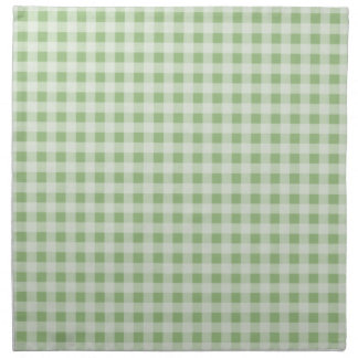 Laurel Green Gingham; Checkered Napkin