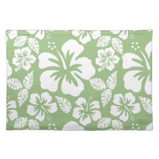 Laurel Green Hawaiian Tropical Hibiscus Placemat