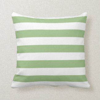 Laurel Green Horizontal Stripes Cushion