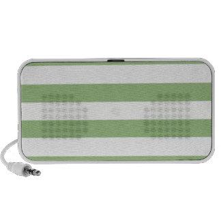 Laurel Green Horizontal Stripes Laptop Speakers