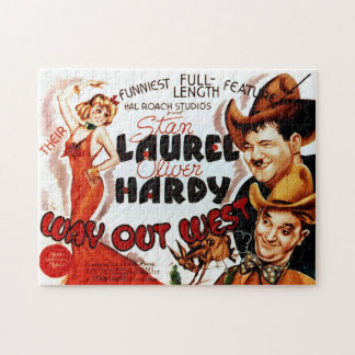 Laurel & Hardy Classic Film Poster Jigsaw Puzzle