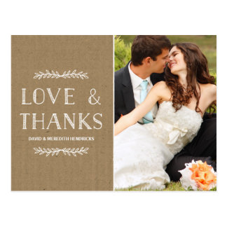 Laurel Kraft Paper | Photo Thank You Postcard