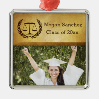 Laurel Leave Wreath | Scales of Justice Law School Christmas Ornament