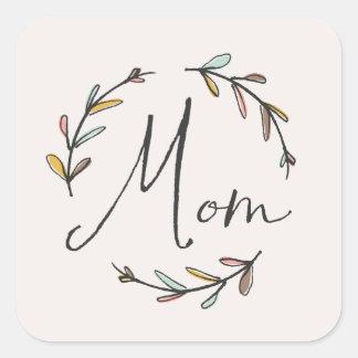 Laurel Mother's Day Sticker - Marigold Square Sticker