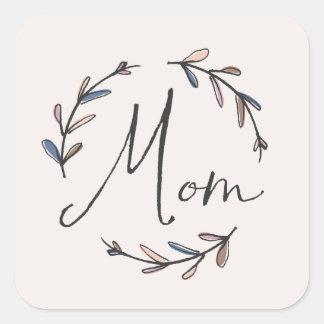 Laurel Mother's Day Sticker - Midnight Square Sticker