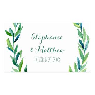 Laurel Olive Leaf Wreath Wedding Table Place Cards Pack Of Standard Business Cards