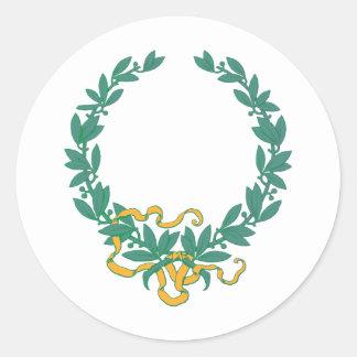 laurel ring laurel wreath round sticker