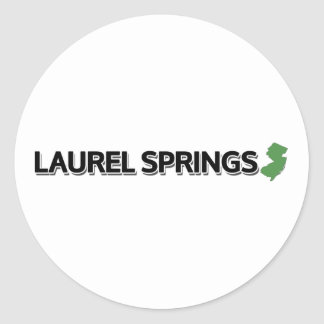 Laurel Springs New Jersey Round Stickers
