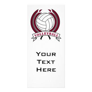 laurel volleyball emblem design custom rack card