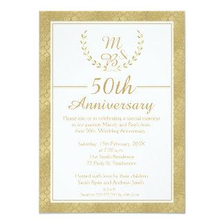 Laurel Wreath 50th Wedding Anniversary Invitation