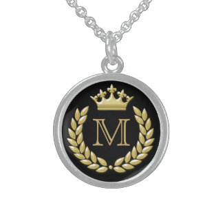 Laurel Wreath and Crown Sterling Silver Necklace