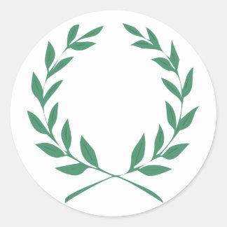 Laurel wreath classic round sticker