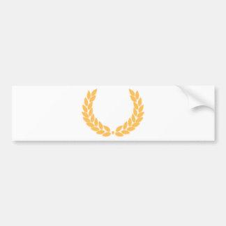 Laurel Wreath Gold Bumper Sticker