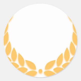 Laurel Wreath Gold Round Sticker