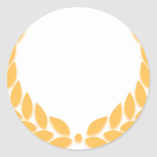 Laurel Wreath Gold Sticker