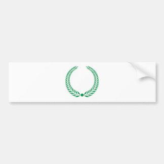 Laurel Wreath - Green Bumper Sticker