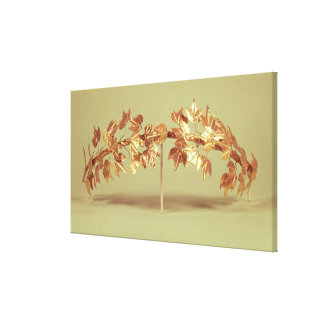Laurel wreath, Mycenae Canvas Print