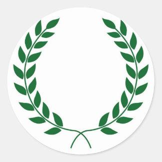 Laurel Wreath Round Sticker