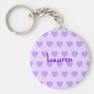 Lauren in Purple Key Ring