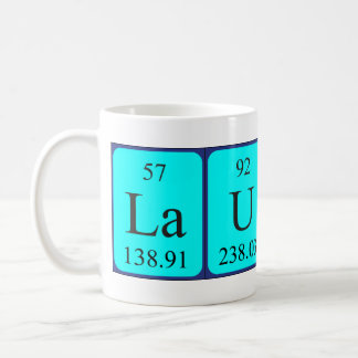 Lauren periodic table name mug