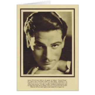 Laurence Olivier vintage portrait Card