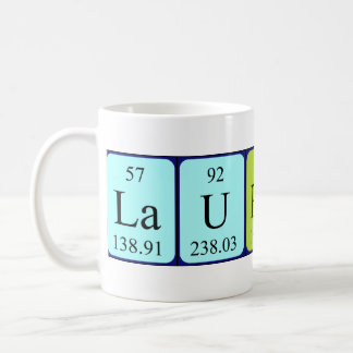 Laurence periodic table name mug