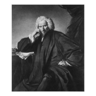 Laurence Sterne, engraved by Edward Fisher Poster