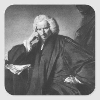 Laurence Sterne, engraved by Edward Fisher Square Sticker