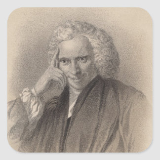 Laurence Sterne Square Sticker