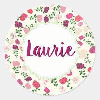 Laurie Classic Round Sticker, Glossy Round Sticker