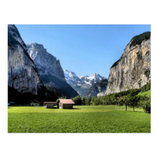 Lauterbrunnen glacial valley postcard