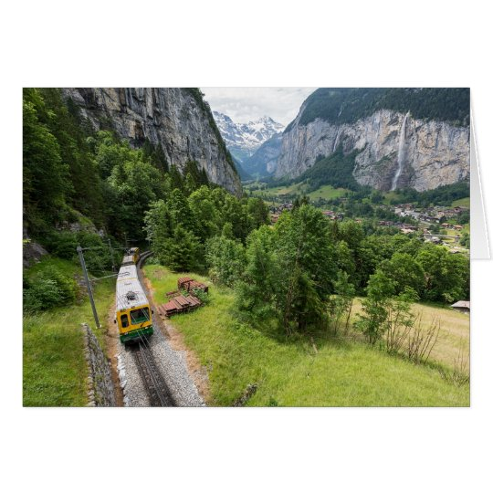 Lauterbrunnen Valley, Switzerland Greeting Card