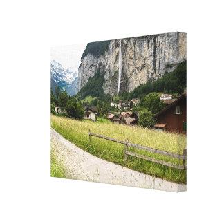 lauterbrunnen Valley, Switzerland - Wrapped Canvas