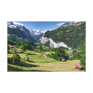 Lauterbrunnen Valley, Switzerland - Wrapped Canvas