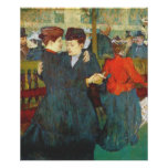 Lautrec at the rouge two women waltzing poster