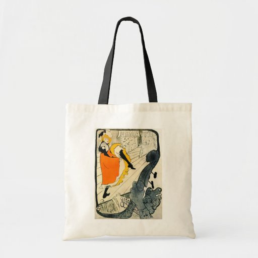 Lautrec: Jane Avril Dancing the Can-Can Canvas Bags