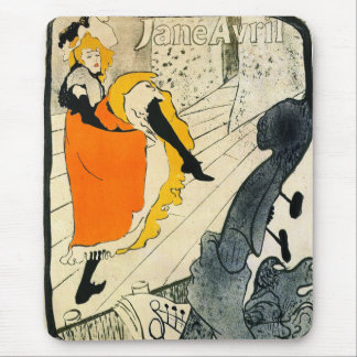 Lautrec Jane Avril Dancing the Can-Can Mousepads