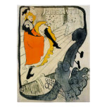 Lautrec: Jane Avril Danicng the Can-Can Poster