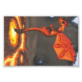 Lava Dragon Art Photo