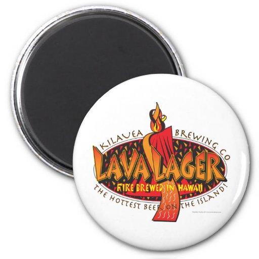 Lava Lager Hawaiian Beer Fridge Magnet