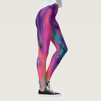 Lava Lamp Abstract Art Print Leggings