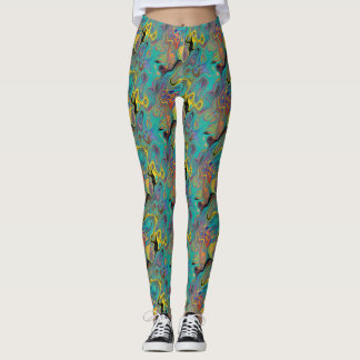 LAVA LAMP CURIOUS FLOWER EMERALD LEGGINGS
